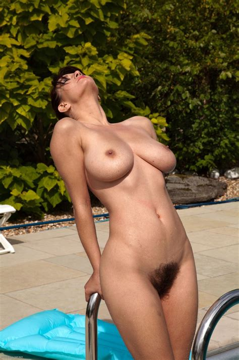 She Loves To Catch Some Rays Hairy Pussy Luscious