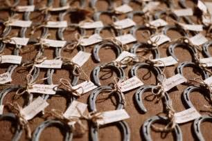 horseshoe party favors featured big sky montana rustic ranch wedding