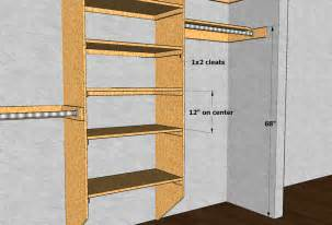 Standard Closet Shelf Dimensions