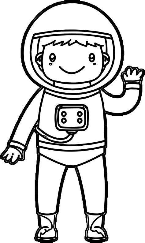 Astronaut Coloring Pages Kids