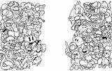 Smash Coloring Bros Brothers Mario Printable Nintendo Squad Coloriage Doodle Geek Kleurplaten Imprimer Wip Dibujos Imprimir Kirby Printen Switch Draw sketch template
