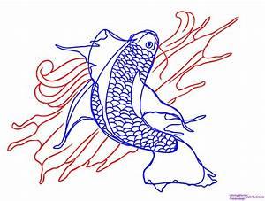How to Draw a Koi Fish Tattoo, Step by Step, Tattoos, Pop ...