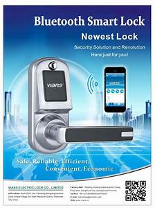 Smart Remote Bluetooth Door Lock Controlled By Smartphone