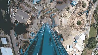 Ride Face Amusement Gifs Drop Parks Falling