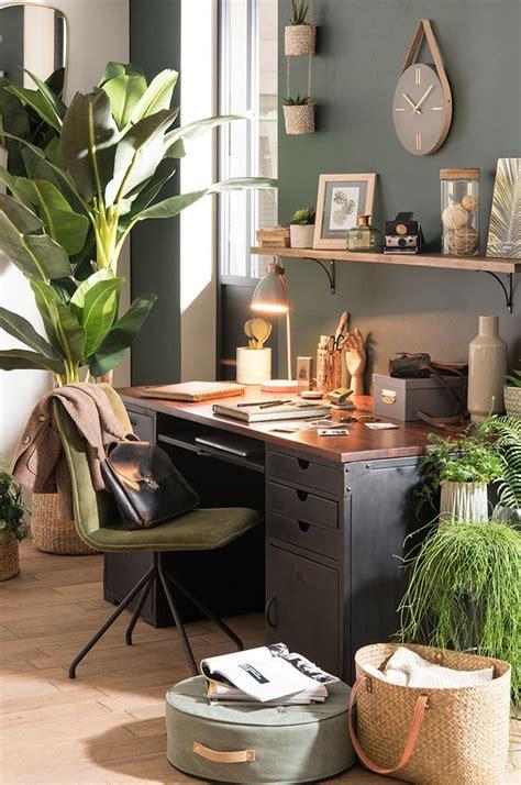 bureau de tendance tendance déco garden bureau des plantes maisons