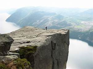 Alone at Preikestolen, a photo from Rogaland, South ...