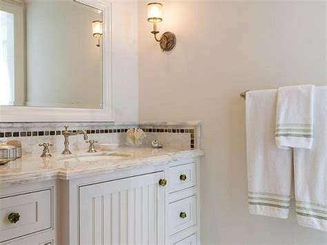 Cabinets With Beadboard Trim  Traditional Bathroom