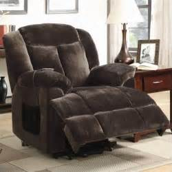 coaster power lift recliner in chocolate 600173