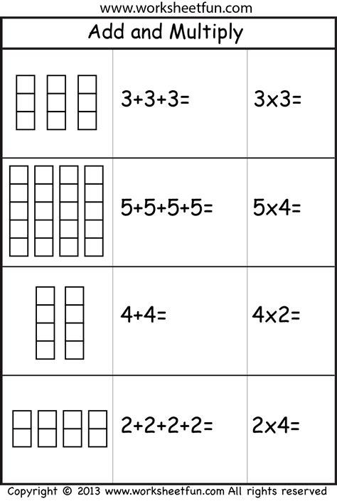 Times Tables Worksheets Ks1 Abitlikethis