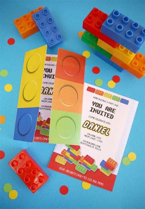 Building Bricks Birthday Party Printables Supplies