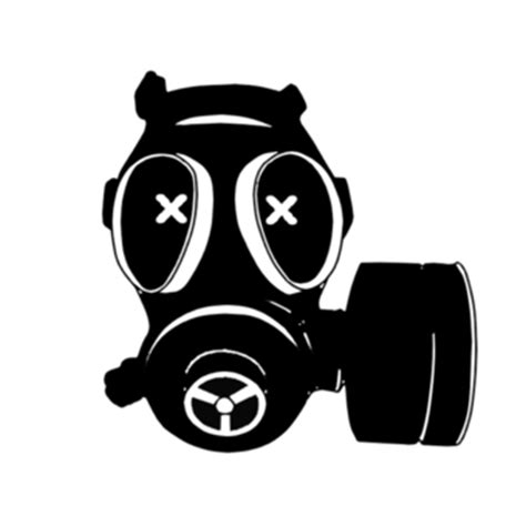 White Cylinder Lamp by Gas Mask Clip Art 35