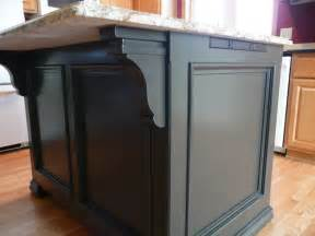 Kitchen Island Cabinet Base After Island Detail Showing Corbel And Step Moulding Solid Black Finish For A Classic Look