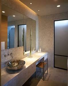 Eclairage led indirect 55 idees tendance pour chaque piece for Salle de bain design avec plaque décorative plafond