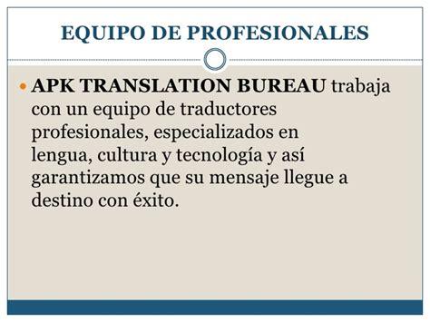 translate bureau apk translation bureau presentación español 2012