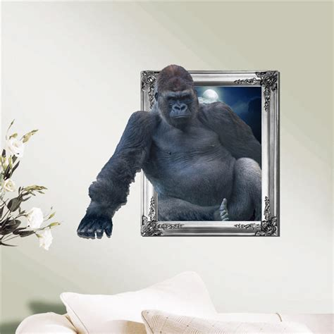 chimpanzee  wall decals animal pag sticker removable
