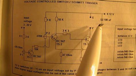 Schmitt Trigger Circuit The Basics Principles