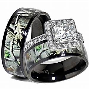 cheap sterling silver camo wedding ring set ipunya With cheap wedding ring set