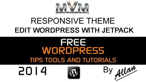wordpress responsive theme edit  jetpack youtube