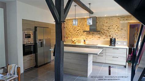 cuisine ouverte moderne cuisine et escalier domozoom com
