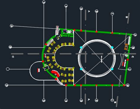 nightclub bar disco  dwg design plan  autocad