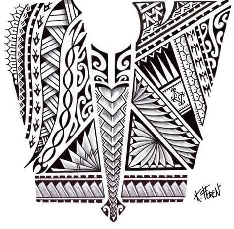 hawaiian tribal stencil polynesian tattoos designs