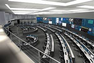Command, Center, Video, Wall, Workstations, And, Consoles