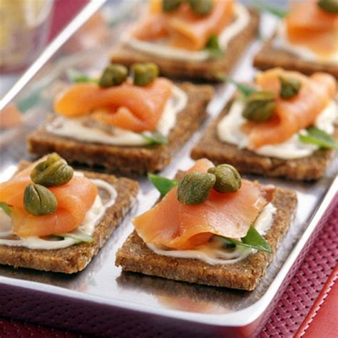 smoked salmon canapes recipe smoked salmon classic and