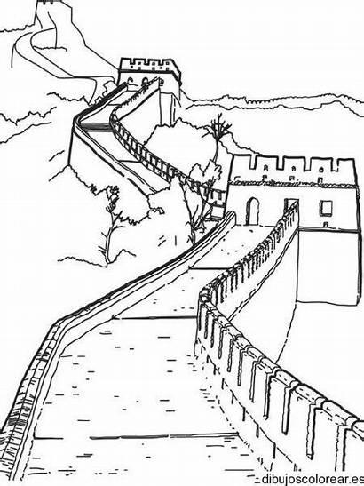 China Coloring Muralla Gran Dibujo Colorear Dibujos