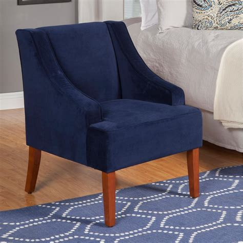 Homepop Swoop Arm Velvet Accent Chair Navyk6499b215