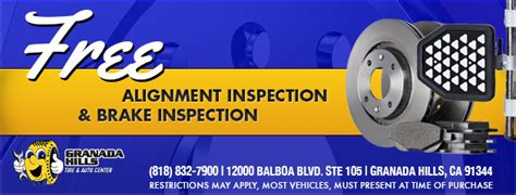 brake and l inspection tires coupons granada hills tire auto center