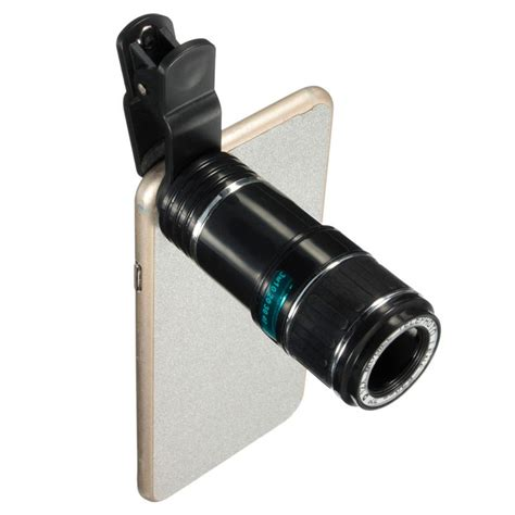 cell phone lens universal 12x zoom optical clip telephoto