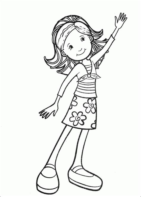 smiley cool girl printable coloring pages  kids