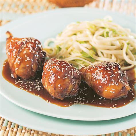 cuisiner le poulet en sauce pilons de poulet sauce général tao soupers de semaine