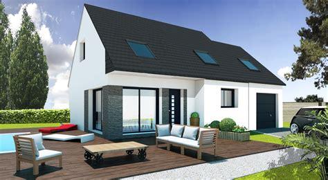 plan maison moderne 3 chambres construction maison pas cher bretagne sud maisons pep 39 s
