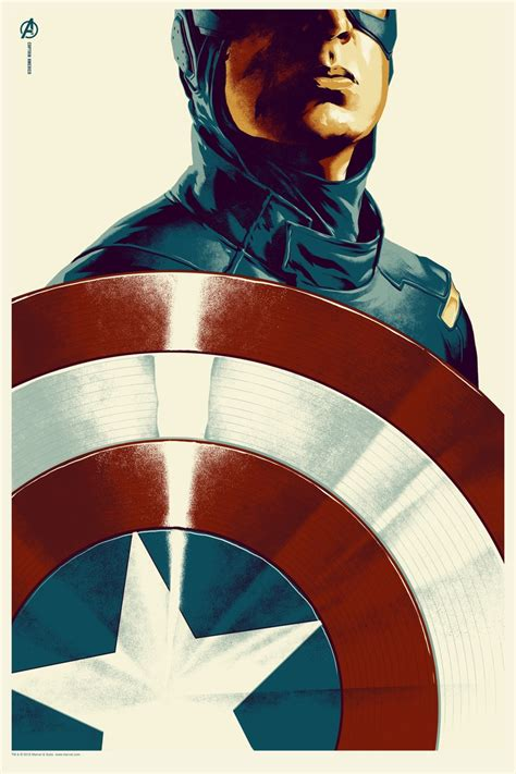captain america l shade the geeky nerfherder awesome avengers posters from mondo