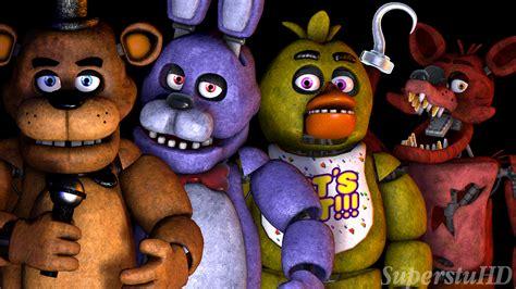 The Fnaf 1 Gang by SuperstuHD on DeviantArt