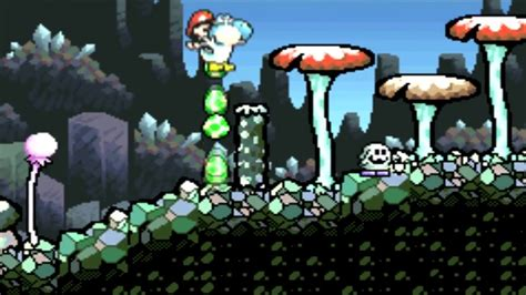 Super Mario Advance 3 Yoshis Island Gba 1 3 The Cave Of