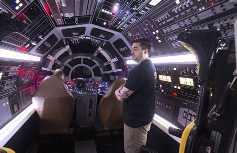millennium falcon opens  star wars fans   battery