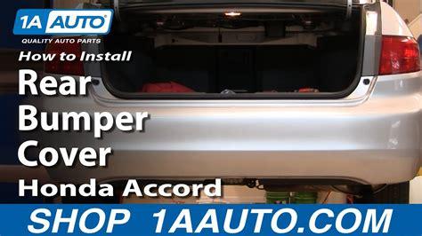 replace rear bumper cover   honda accord youtube