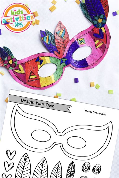design your own mask printable mardi gras mask craft