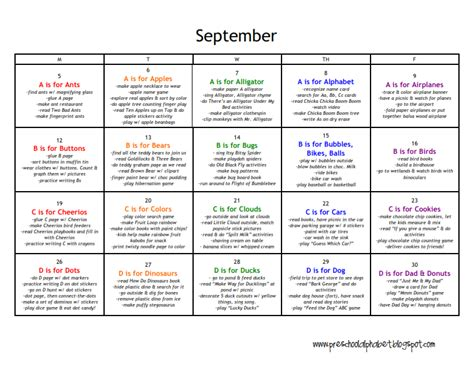 preschool alphabet all of our abc themes 650 | September