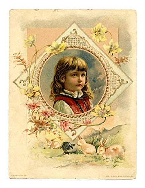 vintage clip art pretty easter girl  graphics