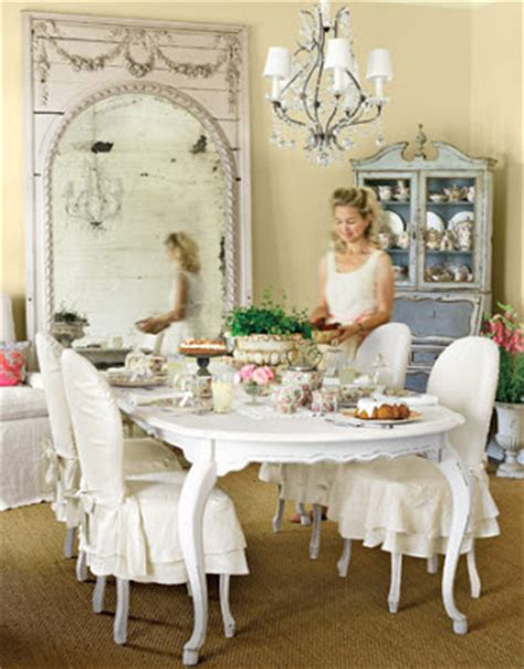 Shabby Chic Dining Room Chair Covers by Whimsy By Creating My Whimsy Cottage Style