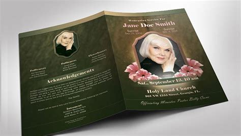 obituary template   word excel  psd format