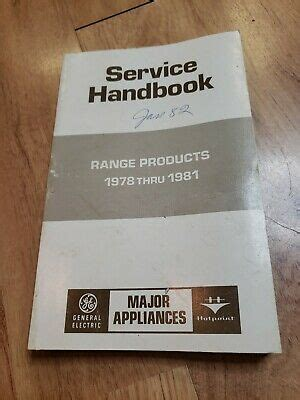 general electric hotpoint range service handbook stove oven   manual ebay