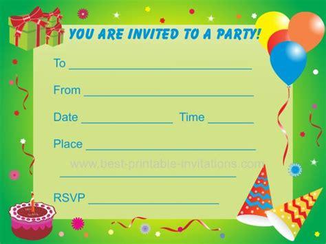birthday party invitations  kids
