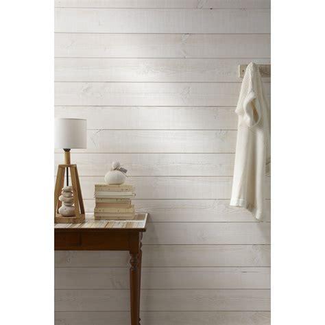 lambris bois sapin brut de sciage blanc artens 235x13 5cm ep 13 5mm leroy merlin