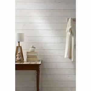 lambris bois sapin brut de sciage blanc artens 235x135cm With panneau de couleur peinture murale 13 lambris castorama