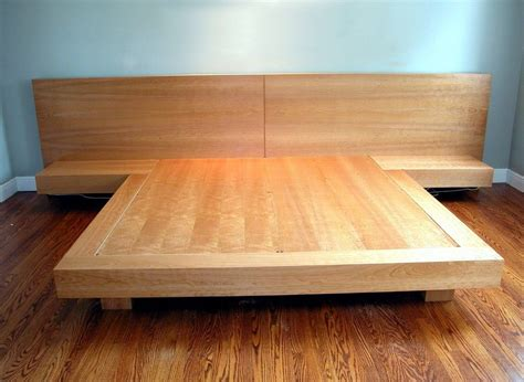king size platform bed frame plans diy platform bed bed
