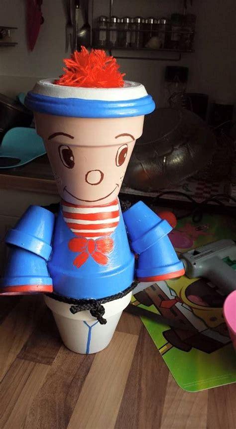 personnage pot en terre cuite fait mes petites creations